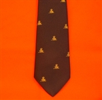 Blue Royal Artillery Regimental Tie with Motif ( RA Tie ) British Army Tie with Motif