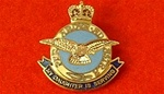"RAF Sweetheart Badge ( Royal Air Force Enamel Sweetheart Lapel Badge ) ""My Daughter is Serving """
