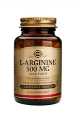 Solgar L-Arginine 500 mg Vegetable Capsules 50