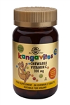 Solgar Kangavites Chewable Vitamin C 100 mg Tablets Natural Orange Burst Flavour 90