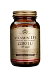 Solgar Vitamin D3 2200 IU (55 µg) Vegetable Capsules 100