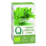 QI ORGANIC FAIRTRADE GREEN TEA WITH MINT 25BAGS