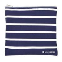 LunchSkins Reusable Zippered Sandwich Bag Navy Stripe