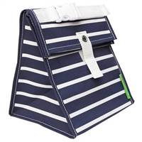 LunchSkins Reusable Lunch Tote Bag Navy Stripe