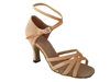 Style 1606 Beige Brown Leather - Women's Dance Shoes | Blue Moon Ballroom Dance Supply
