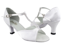 Style 1609 White Satin - Women's Dance Shoes | Blue Moon Ballroom Dance Supply