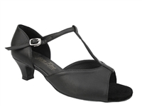 Style 1609 Black Leather Cuban Heel