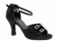 Style 1620 Black Satin - Women's Dance Shoes | Blue Moon Ballroom Dance Supply