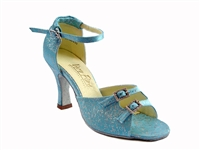 Style 1620 Blue Flower - Women's Dance Shoes | Blue Moon Ballroom Dance Supply