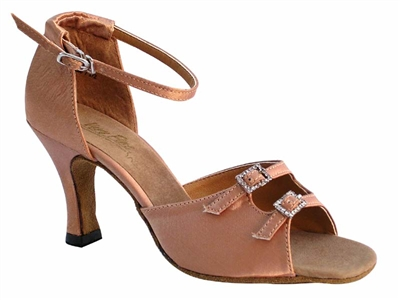 Style 1620 Brown Satin - Women's Dance Shoes | Blue Moon Ballroom Dance Supply