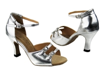 Style 1620 Silver Leather - Women's Dance Shoes | Blue Moon Ballroom Dance Supply