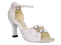 Style 1620 White Leather - Women's Dance Shoes | Blue Moon Ballroom Dance Supply