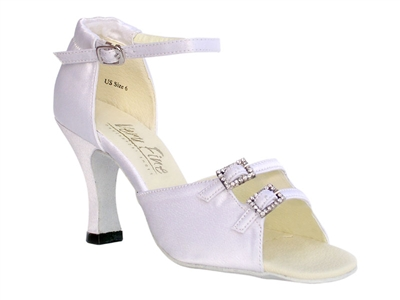 Style 1620 White Satin - Women's Dance Shoes | Blue Moon Ballroom Dance Supply