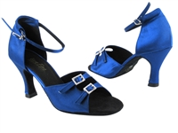 Style 1620 Gem Blue Satin - Women's Dance Shoes | Blue Moon Ballroom Dance Supply