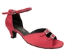 Style 1620 Red Satin Cuban Heel