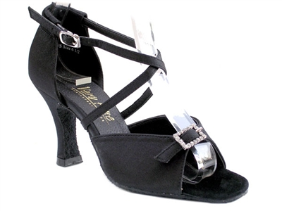 Style 1636 Black Satin - Women's Dance Shoes | Blue Moon Ballroom Dance Supply