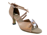 Style 1636 Brown Satin - Women's Dance Shoes | Blue Moon Ballroom Dance Supply