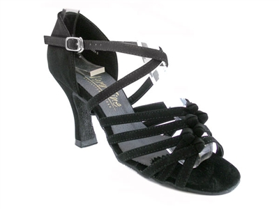 Style 1650 Black Nubuck - Women's Dance Shoes | Blue Moon Ballroom Dance Supply