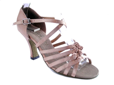 Style 1650 Brown Satin - Women's Dance Shoes | Blue Moon Ballroom Dance Supply