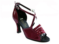 Style 1651 Red Sparkle & Red Patent - Women's Dance Shoes | Blue Moon Ballroom Dance Supply