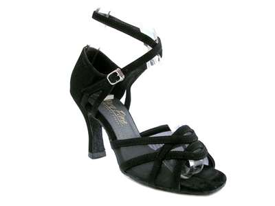 Style 1657 Black Nubuck & Black Mesh - Women's Dance Shoes | Blue Moon Ballroom Dance Supply