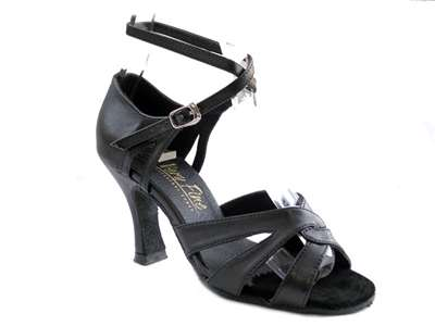 Style 1658 Black Leather - Women's Dance Shoes | Blue Moon Ballroom Dance Supply