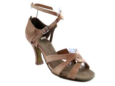 Style 1658 Brown Satin - Women's Dance Shoes | Blue Moon Ballroom Dance Supply