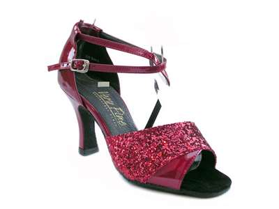 Style 1659 Red Sparkle & Red Patent - Women's Dance Shoes | Blue Moon Ballroom Dance Supply