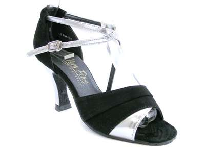 Style 1659 Silver Leather & Black Nubuck