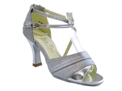 Style 1659 Silver Stardust & Silver Leather - Women's Dance Shoes | Blue Moon Ballroom Dance Supply