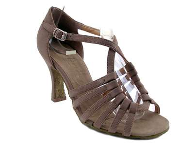 Style 1661 Brown Nubuck - Women's Dance Shoes | Blue Moon Ballroom Dance Supply