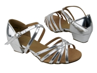 Style 1670CG Girls Silver Leather