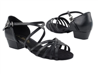 Style 1670FT Black Leather Flat Heel - Women's Dance Shoes | Blue Moon Ballroom Dance Supply