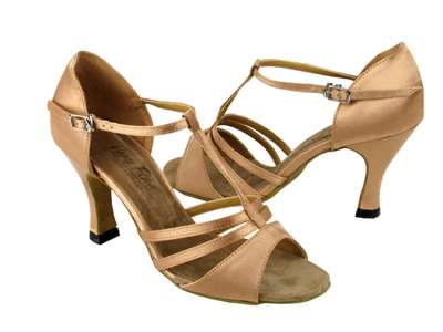 Style 1683 Brown Satin - Women's Dance Shoes | Blue Moon Ballroom Dance Supply