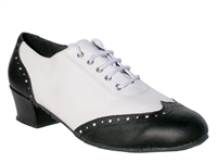 Style 2008 Black Leather White Leather - Women's Dance Shoes | Blue Moon Ballroom Dance Supply