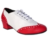 Style 2008 Red Leather White Leather - Women's Dance Shoes | Blue Moon Ballroom Dance Supply