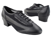 Style2009 Black Leather - Women's Dance Shoes | Blue Moon Ballroom Dance Supply