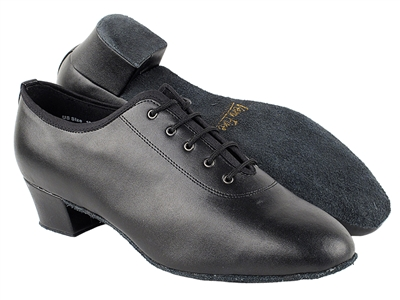 Style 2302 Black Leather Latin Heel - Men's Dance Shoes | Blue Moon Ballroom Dance Supply