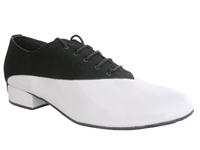 Style 2504 Black Nubuck & White Patent - Women's Dance Shoes | Blue Moon Ballroom Dance Supply