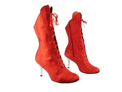Style 3301 112 Red Satin Boot - Dance Footwear | Blue Moon Ballroom Dance Supply