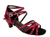 Style 5008Mirage Red Spkle & Red Patent Cuban Heel