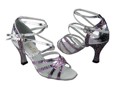 Style 5008Mirage Party Sparkle & Ultra Silver - Women's Dance Shoes | Blue Moon Ballroom Dance Supply