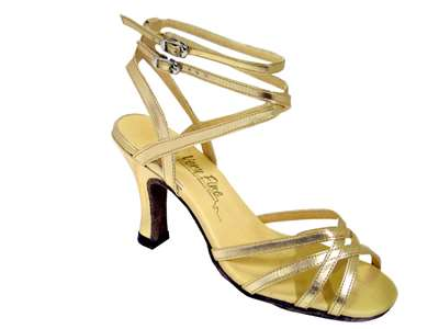 Style 5009 Gold Leather - Women's Dance Shoes | Blue Moon Ballroom Dance Supply