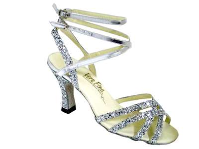 Style 5009 Silver Sparkle - Women's Dance Shoes | Blue Moon Ballroom Dance Supply
