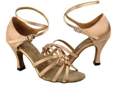 Style 5011 Brown Satin - Women's Dance Shoes | Blue Moon Ballroom Dance Supply