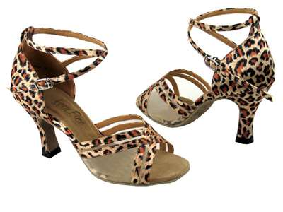Style 5017 Leopard & Flesh Mesh - Women's Dance Shoes | Blue Moon Ballroom Dance Supply