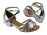 Style 6005G Girls Silver Leather