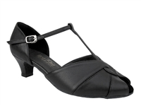 Style 6006 Black Leather Cuban Heel