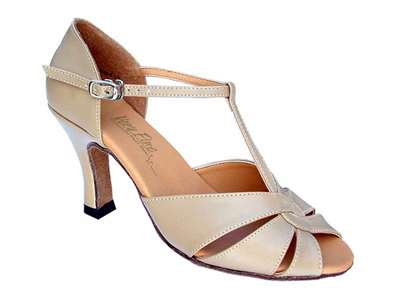 Style 6006 Tan Leather - Women's Dance Shoes | Blue Moon Ballroom Dance Supply