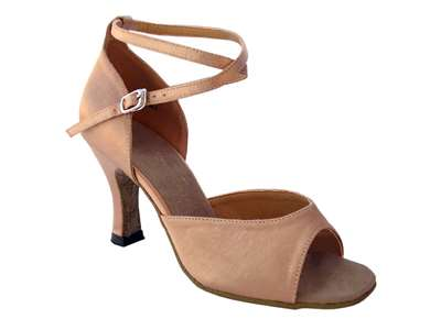 Style 6012 Brown Satin - Women's Dance Shoes | Blue Moon Ballroom Dance Supply